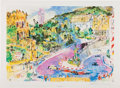 Transportation:Automobilia, Limited Edition Loews Monte Carlo 1976 Print By LeRoy Neiman SignedAnd Numbered...