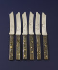 Silver & Vertu:Flatware, A Set of Six Silver and Mixed Metal Fruit Knives. Gorham Manufacturing Co., Providence, Rhode Island. Circa 1880. Silver, ... (Total: 6 Items)