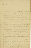 "Autographs:Military Figures, South Carolina's William Henry Drayton Autograph Letter Signed, ""Wm Hy Drayton"", 1.25 pages with verso address panel and..."