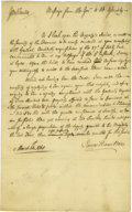"Autographs:Statesmen, James Hamilton Letter Signed as Lt. Governor of Pennsylvania, onepage, 7.75"" x 12.5"", Philadelphia, Pennsylvania, March 12,...(Total: 1 Item)"