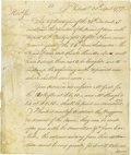 "Autographs:Military Figures, Revolutionary War Arms Content Autograph Letter Signed, ""Benj.Flower"", two pages with address panel, 7.75"" x 9.25"", Phi..."