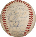 Baseball Collectibles:Balls, 1967 Pittsburgh Pirates Team Signed Baseball With Roberto Clemente....