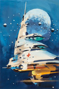 Pulp, Pulp-like, Digests, and Paperback Art, JOHN CONRAD BERKEY (American, 1932-2008). Sector General No. 1,preliminary illustration. Gouache and tempera on board. ...