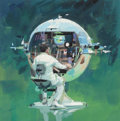 Pulp, Pulp-like, Digests, and Paperback Art, JOHN CONRAD BERKEY (American, 1932-2008). The Technician,preliminary illustration. Gouache and tempera on board. 7.75x...