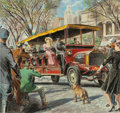 "Mainstream Illustration, PETER (CLARENCE PETER) HELCK (American, 1893-1988). ""There'sLife in the Old Bus Yet!...,"" Mack Trucks advertisement for T...(Total: 2 Items)"