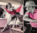 Pin-up and Glamour Art, CHET (CHESTER) COLLOM (American, b. 1927). Dance of Love,magazine story illustration. Gouache en grisaille on board.14...