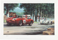 "Transportation:Automobilia, Limited Edition Phil Hill Signed Lithograph Print - ""Hill At LeMans, 1958"" By Artist Michael Mate With COA And Original Shipp..."