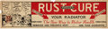 Advertising:Gas & Oil, Vintage Rust Cure Paper Advertising Poster...