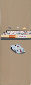 Transportation:Automobilia, Original Art For Porsche Themed Wallpaper...