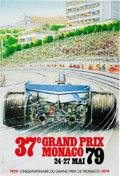 Transportation:Automobilia, Original Event Poster For The 1979 Grand Prix Of Monaco...