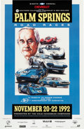 Transportation:Automobilia, Original 1992 Palm Springs Road Races Event Poster...