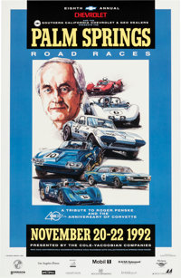 Original 1992 Palm Springs Road Races Event Poster