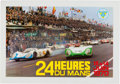 Transportation:Automobilia, Original Event Poster for the 1970 24 Heures Du Mans ...