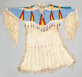 American Indian Art:Beadwork and Quillwork, A PLATEAU BEADED HIDE DRESS. c. 1925...