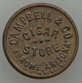 20th Century Tokens and Medals, Jerome, Arizona Territory, Campbell & Co. Cigar Store. Struckuniface by L.H. Moise Co. of San Francisco. Brass, 19 mm. Yava...
