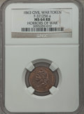 Civil War Patriotics, 1863 Horrors of War MS64 Red and Brown NGC. Fuld-37/256a....