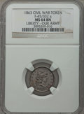 Civil War Patriotics, 1863 Liberty - Our Army MS64 Brown NGC, Fuld-45/332a; 1863 TheUnion Must Be Preserved MS63 Brown NGC, Fuld-136/397a; 1864 Her...(Total: 5 coins)