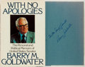Books:Biography & Memoir, Barry Goldwater. SIGNED. With No Apologies. New York:William Morrow, 1979. First edition. Signed by the author. ...