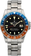 Timepieces:Wristwatch, Rolex Ref. 1675 GMT-Master Vintage Steel Wristwatch, circa 1970. ...