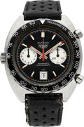 Timepieces:Wristwatch, Heuer Ref. 1163 V Steel Autavia Automatic Chronograph, circa 1972....