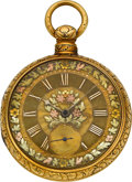 Timepieces:Pocket (pre 1900) , Joseph Johnson Liverpool Gold Lever Fusee Fancy Dial, circa 1840....