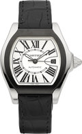 Timepieces:Wristwatch, Cartier Ref. 3312 Steel Roadster Automatic, circa 2010. ...
