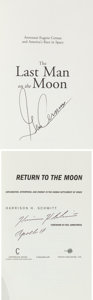 Autographs:Celebrities, Apollo 17 Moonwalkers: Two Signed Books.... (Total: 2 Items)