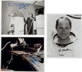 Autographs:Celebrities, Al Worden Signed Apollo 15-Related Original NASA Photos (Three).... (Total: 3 Items)