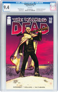 Modern Age (1980-Present):Horror, Walking Dead #10 (Image, 2004) CGC NM 9.4 White pages....