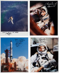 Autographs:Celebrities, Gemini 5 Individual Signed Color Photos (Four). ... (Total: 4Items)