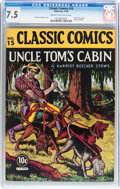 Golden Age (1938-1955):Classics Illustrated, Classic Comics #15 Uncle Tom's Cabin - Original Edition (Gilberton,1943) CGC VF- 7.5 Cream to off-white pages....