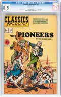 Golden Age (1938-1955):Adventure, Classics Illustrated #37 The Pioneers - Original Edition(Gilberton, 1947) CGC VF+ 8.5 Off-white pages....