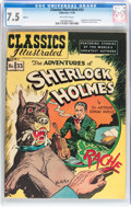 Golden Age (1938-1955):Classics Illustrated, Classics Illustrated #33 The Adventures of Sherlock Holmes - HRN 53(Gilberton, 1948) CGC VF- 7.5 Off-white pages....