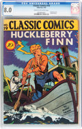 Golden Age (1938-1955):Classics Illustrated, Classic Comics #19 Huckleberry Finn - Original Edition (Gilberton,1944) CGC VF 8.0 Cream to off-white pages....