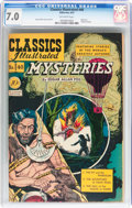 Golden Age (1938-1955):Classics Illustrated, Classics Illustrated #40 Mysteries - Original Edition (Gilberton,1947) CGC FN/VF 7.0 Off-white pages....