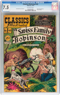 Golden Age (1938-1955):Classics Illustrated, Classics Illustrated #42 Swiss Family Robinson - Original Edition(Gilberton, 1947) CGC VF- 7.5 Off-white pages....