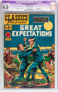 Golden Age (1938-1955):Classics Illustrated, Classics Illustrated #43 Great Expectations - Original Edition(Gilberton, 1947) CGC Apparent VF 8.0 Moderate (P) Off-white pa...