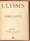 Books:Literature 1900-up, James Joyce. Ulysses. Paris: Shakespeare and Company, 1930.Eleventh printing. Library copy, with blind and ink sta...