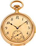 Timepieces:Pocket (pre 1900) , Patek Philippe & Co. Very Fine Gold Minute Repeater WithSpecial Dial, circa 1880. ...