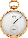 Timepieces:Pocket (pre 1900) , Patek Philippe Very Rare Digital Jump Hour Gold Pocket Watch, circa1892. ...
