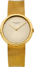 Timepieces:Wristwatch, Patek Philippe Ref. 3459 Gent's Gold Wristwatch, circa 1970. ...