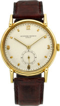 Timepieces:Wristwatch, Vacheron Constantin Rare Large Gold Wristwatch, circa 1950. ...