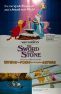 Entertainment Collectibles:Movie, [Movie Posters]. Pair of Disney Movie Posters. Includes Winnie the Pooh and Tigger Too (1974) and The Sword in t...