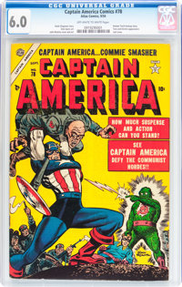 Captain America Comics #78 (Timely, 1954) CGC FN 6.0 Off-white to white pages