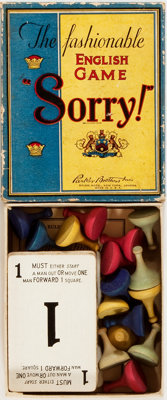 "[Toys and Games]. Sorry! The Fashionable English Game. Parker Brothers, [n.d., ca. 1930?]. One 5"" x 4"" box con..."
