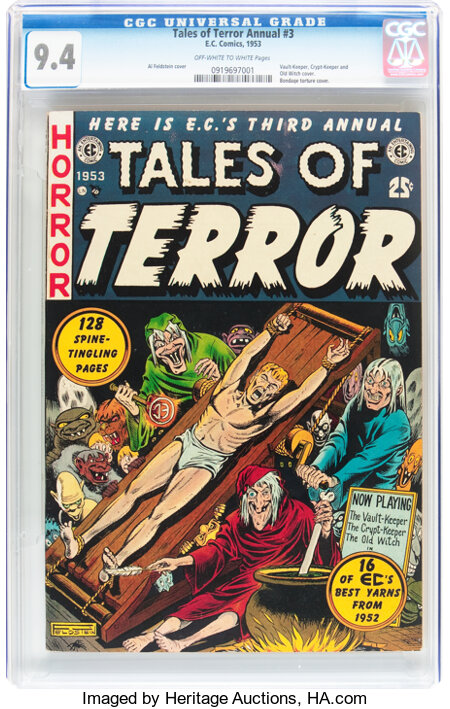 Tales of Terror Annual #3 (EC, 1953) CGC NM 9.4 Off-white to white pages....