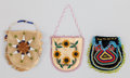 American Indian Art:Beadwork and Quillwork, THREE EASTERN WOODLANDS / PLAINS BEADED POUCHES... (Total: 3 )