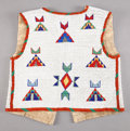 American Indian Art:Beadwork and Quillwork, A SIOUX BOY'S BEADED HIDE VEST...
