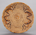 American Indian Art:Beadwork and Quillwork, A MISSION COILED TRAY. c. 1900...