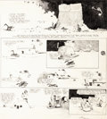 Original Comic Art:Comic Strip Art, George Herriman Krazy Kat Sunday Comic Strip Original Art dated 11-23-19 (King Features Syndicate, 1919)....